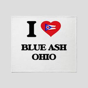 I love Blue Ash Ohio Throw Blanket