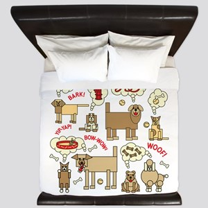 What Dogs Think King Duvet