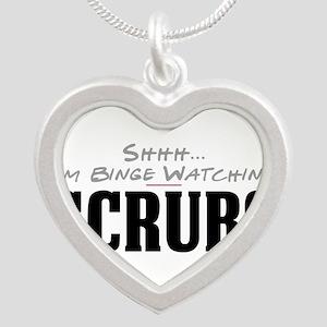 Shhh... I'm Binge Watching Scrubs Silver Heart Nec