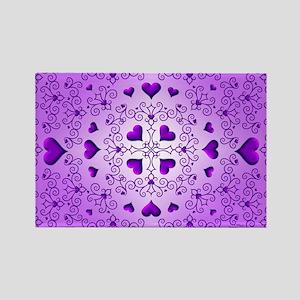 Purple Swirls and Hearts by Xennifer Magnets