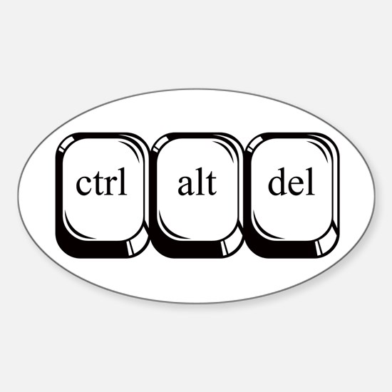 Ctrl Alt Del Oval Decal