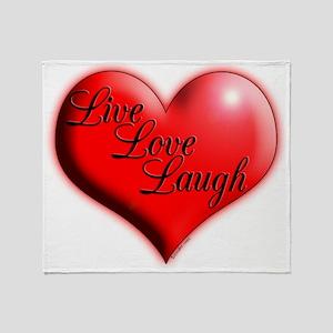Live Love Laugh by Xennifer Throw Blanket