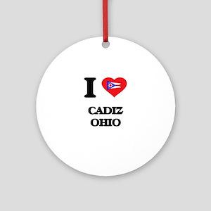 I love Cadiz Ohio Ornament (Round)