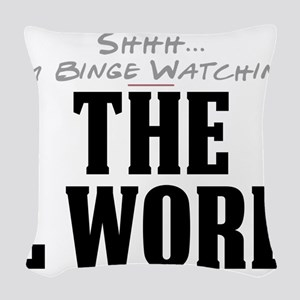 Shhh... I'm Binge Watching The L Word Woven Throw