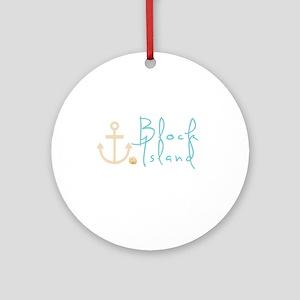 Block Island Script Ornament (Round)