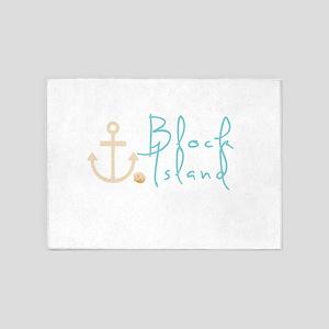 Block Island Script 5'x7'Area Rug