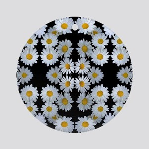 90s vintage floral Ornament (Round)