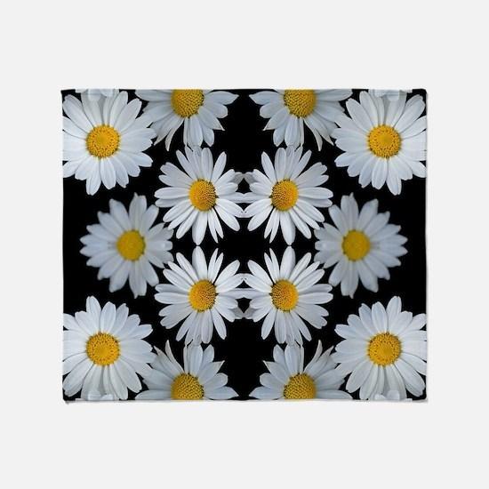90s vintage floral Throw Blanket
