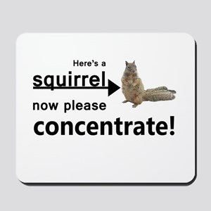 Concentrate on the squirrel Mousepad