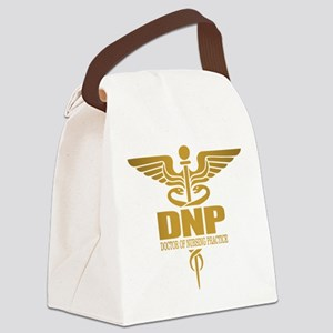 DNP gold Canvas Lunch Bag