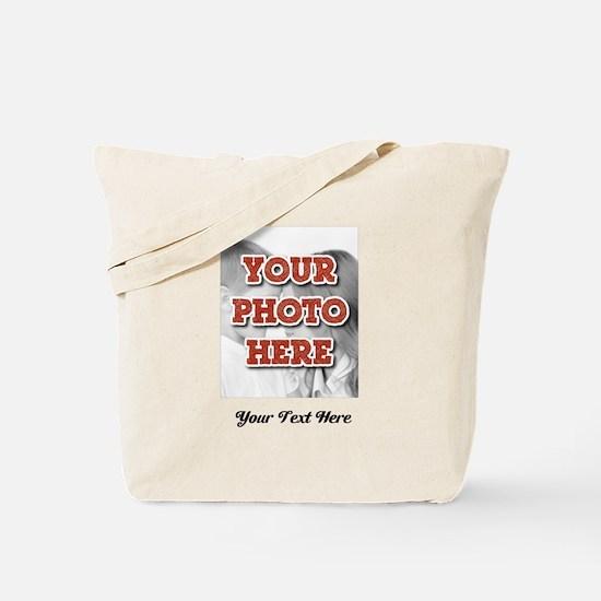 CUSTOM 8x10 Photo and Text Tote Bag