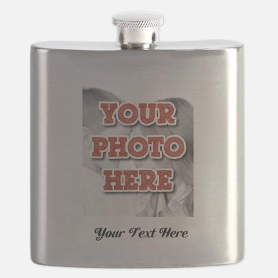 CUSTOM 8x10 Photo and Text Flask