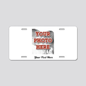 CUSTOM 8x10 Photo and Text Aluminum License Plate