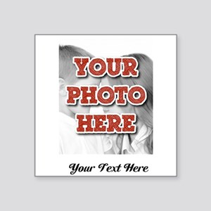CUSTOM 8x10 Photo and Text Sticker