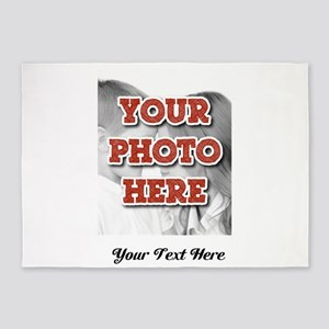 CUSTOM 8x10 Photo and Text 5'x7'Area Rug
