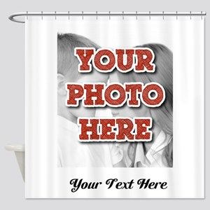 CUSTOM 8x10 Photo and Text Shower Curtain