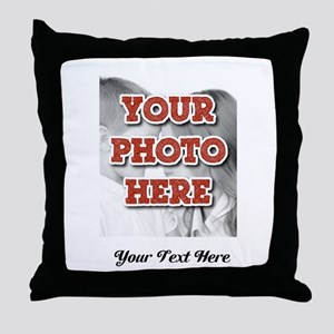 CUSTOM 8x10 Photo and Text Throw Pillow