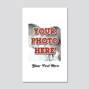 CUSTOM 8x10 Photo and Text Wall Decal