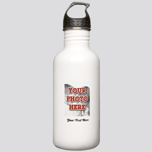 CUSTOM 8x10 Photo and Text Water Bottle