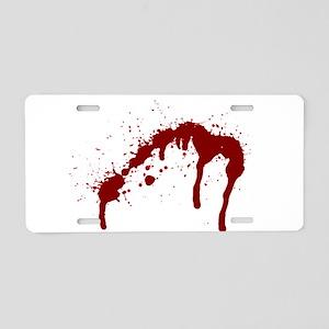 blood splatter 6 Aluminum License Plate