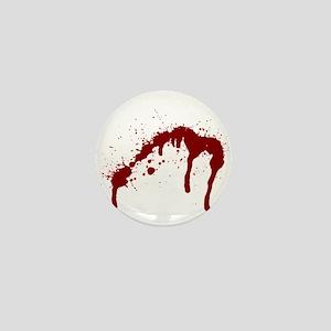 blood splatter 6 Mini Button