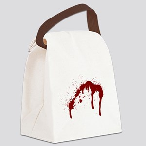 blood splatter 6 Canvas Lunch Bag