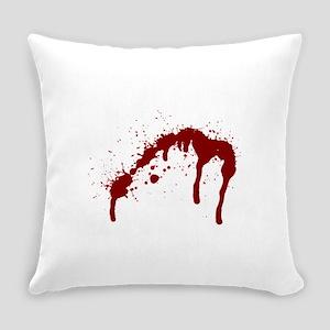 blood splatter 6 Everyday Pillow