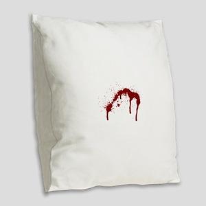 blood splatter 6 Burlap Throw Pillow
