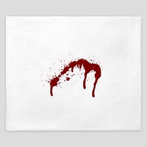 blood splatter 6 King Duvet