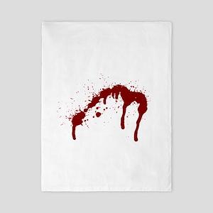blood splatter 6 Twin Duvet