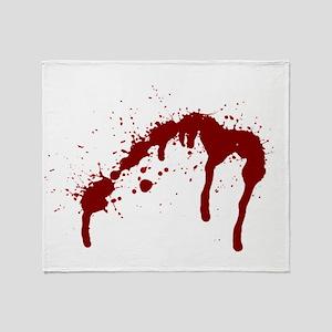 blood splatter 6 Throw Blanket