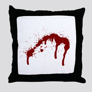 blood splatter 6 Throw Pillow