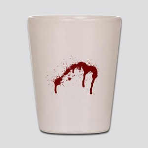 blood splatter 6 Shot Glass