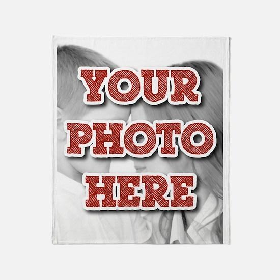CUSTOM Your Photo Here Throw Blanket