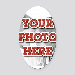 CUSTOM Your Photo Here Oval Car Magnet