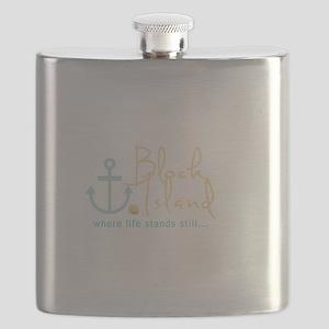 Block Island Life Stands Still Flask