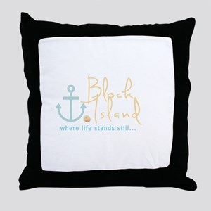 Block Island Life Stands Still Throw Pillow