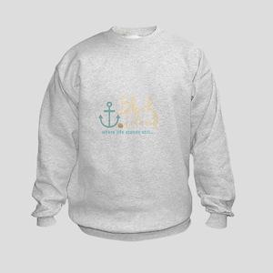 Block Island Life Stands Still Kids Sweatshirt