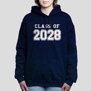 Class of 2028 (White) Women's Hooded Sweatshirt