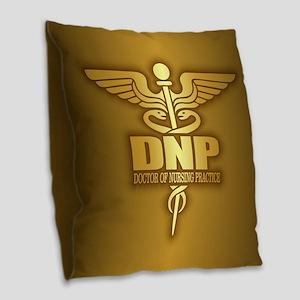 Dnp Gold Burlap Throw Pillow