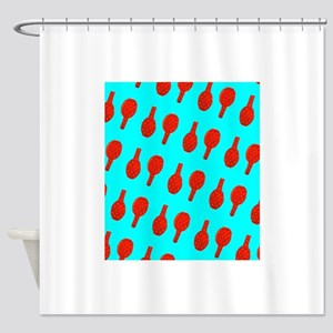Tennis Turquoise Spirit for George Shower Curtain
