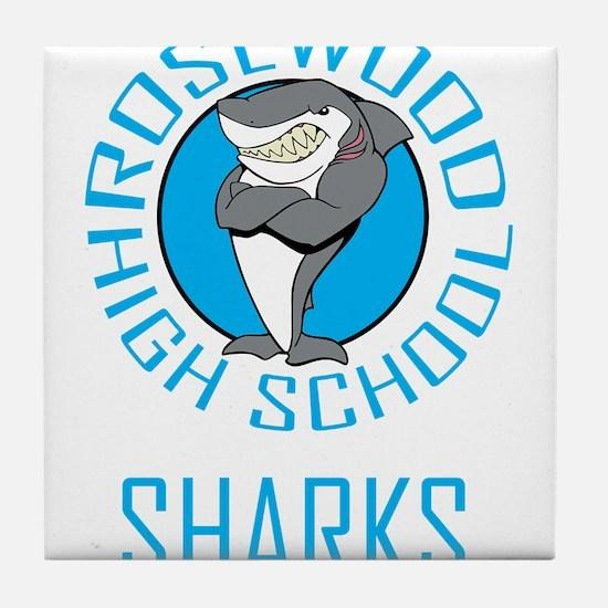 Rosewood Sharks PLL Tile Coaster