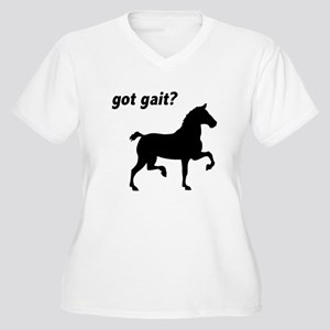Got Gait Gaited Horse Women's Plus Size V-Neck T-S