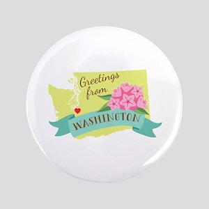 Washington State Outline Rhododendron Flower Greet