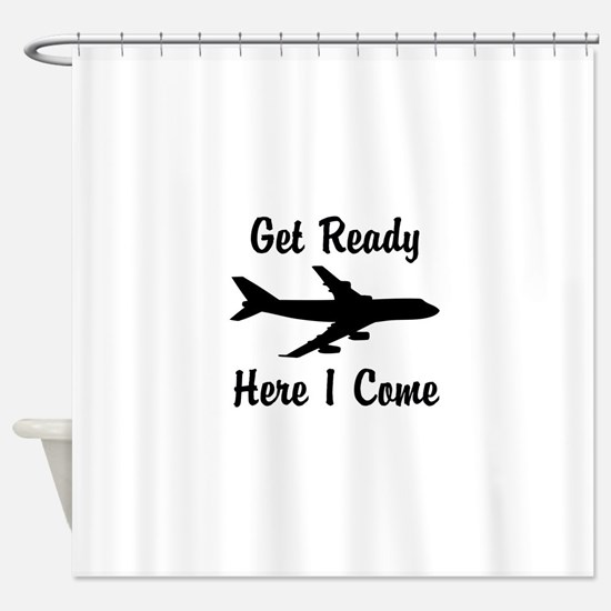 Here I Come Shower Curtain