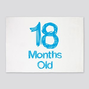 18 Months Old Baby Milestones 5'x7'Area Rug