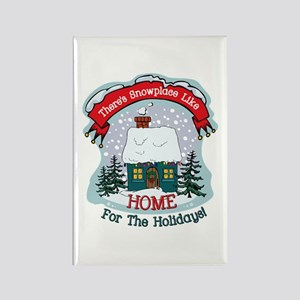 Snowplace Like Home Rectangle Magnet