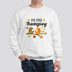 Our First Thanksgiving Sweatshirt