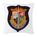 USS JOHN C. CALHOUN Woven Throw Pillow