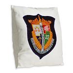 USS JOHN C. CALHOUN Burlap Throw Pillow